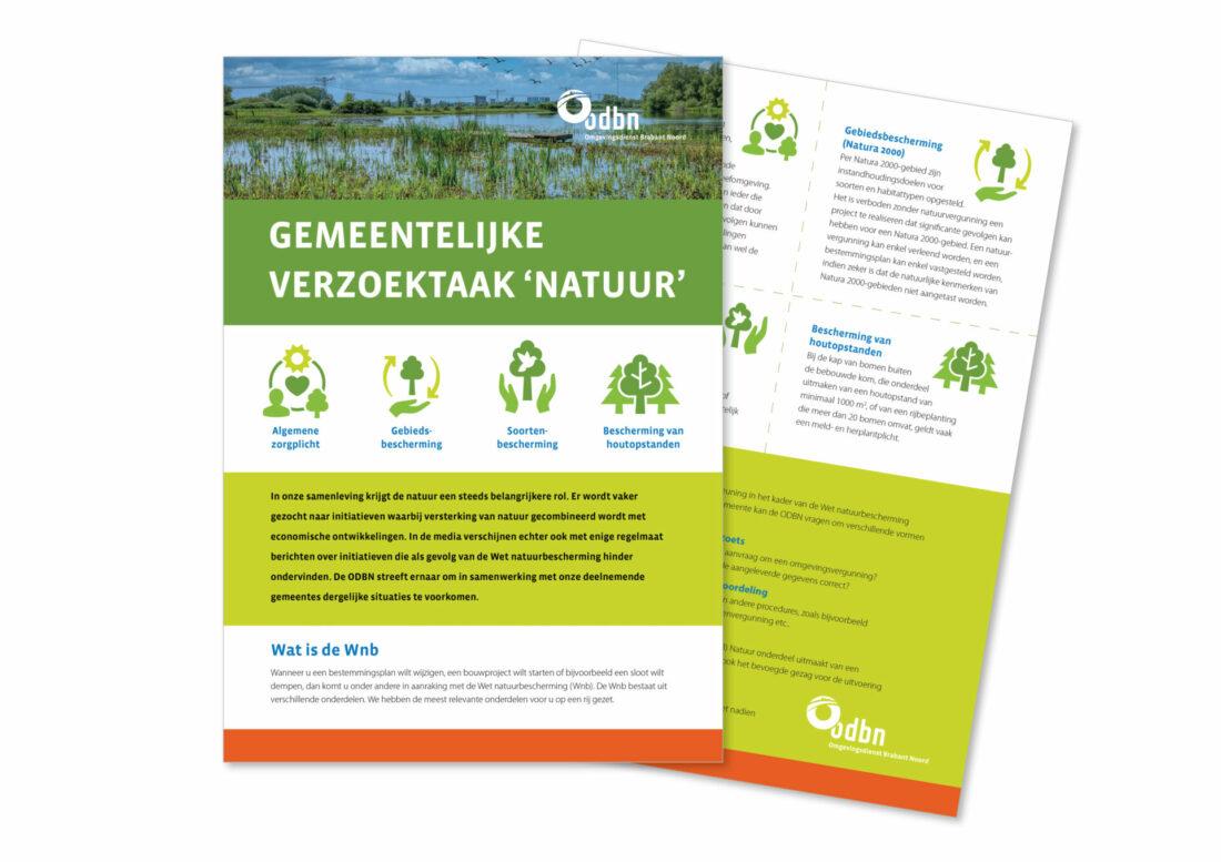 ontwerp flyer omgevingsdienst door Kimmic